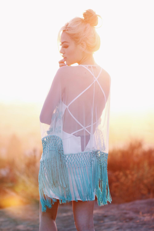 Stinnys Skylar Body Chain/ inLUV Mint Kimono/ Tobi Cradle Back Dress         Photography: Jon Chen (@jc0522)